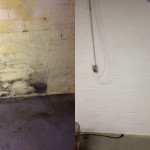 Basement Wall Before and After